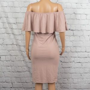 Say What? Dresses - Say What? off-the-shoulder ruffle midi dress